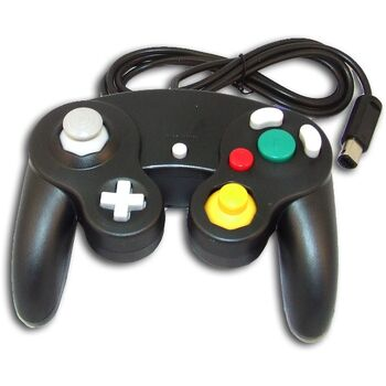 MANDO COMPATIBLE GAME CUBE ULTRA DUAL JOYPAD NEGRO