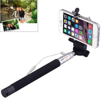 BASTON EXTENSIBLE SELFIE MOVIL NEGRO