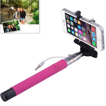 BASTON EXTENSIBLE SELFIE MOVIL ROSA