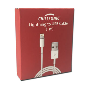 CABLE USB LIGHTNING COMPATIBLE IPHONE IPAD 1M MFI