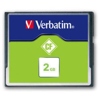 VERBATIM 2GB COMPACT FLASH MEMORY CARD