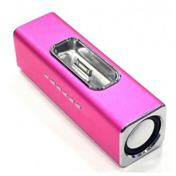 ALTAVOCES STEREO MP3 CUBE3 ROSA IPHONE 3 y 4.