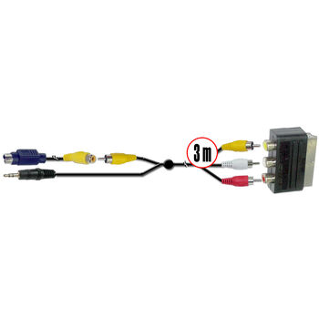CABLE PC UNIVERSAL 3M SVIDEO. JACK A EURO SATYC