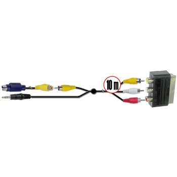 CABLE PC UNIVERSAL 10M SVIDEO. JACK A EURO SATYC