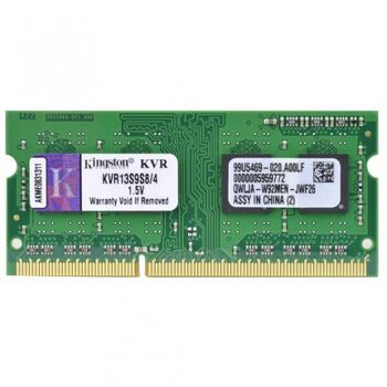 MEMORIA SODIMM 4GB DDR3 1333 KINGSTON KVR13S9S8/4G