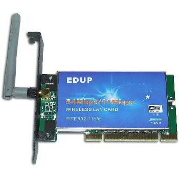 TARJETA RED PCI WIFI 54 MBPS EDUP XP SATYCON