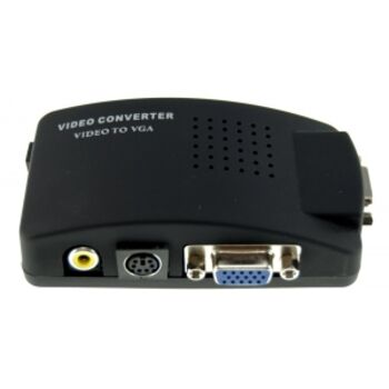 ADAPTADOR  RCA Y S-VIDEO A VGA BOX M2001 SATYCON
