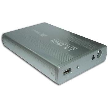 OUTER BOX DRIVE HARD HDD 3.5 '' SATA USB2.0 SILVER