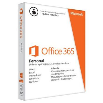 MICROSOFT OFFICE 365 PERSONAL 1 AÑO PC/MAC/TABLET