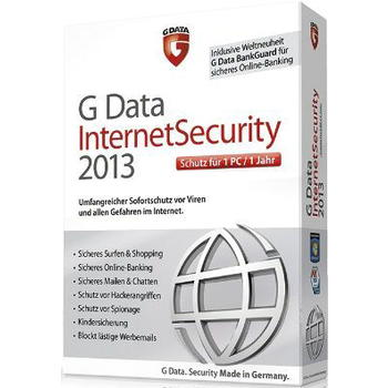 ANTIVIRUS GDATA INTERNET SECURITY 2013 1PC 1 A�O