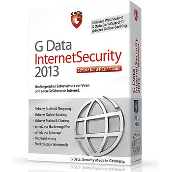 ANTIVIRUS GDATA INTERNET SECURITY 2013 3PC 2 A�OS