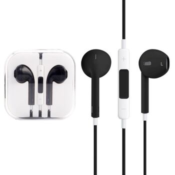 AURICULARES MANOS LIBRES IPHONE ANDROID NEGRO