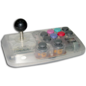 JOYSTICK VIBRATION TRANSPARENT SAT ULTRADUAL PSONE
