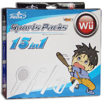 GAMES WII - MEGA PACK 15 IN 1 SATYCON