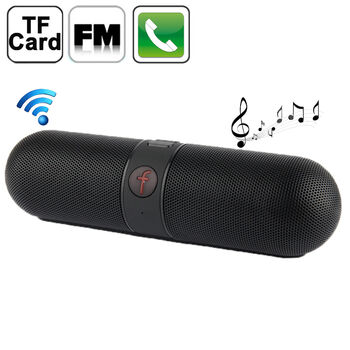 ALTAVOZ PORTATIL BLUETOOTH F-PILL FM USB TF NEGRO