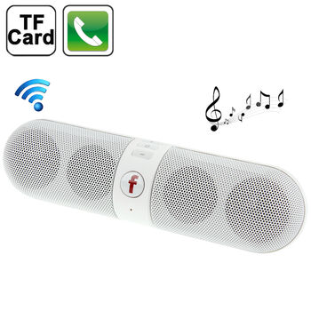 ALTAVOZ PORTATIL BLUETOOTH F-PILL FM USB TF BLANCO