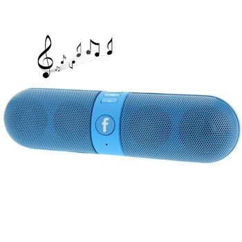 ALTAVOZ PORTATIL BLUETOOTH F-PILL FM USB TF AZUL