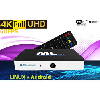 ANDROID TV MEDIALINK ML8000 UHD 4K HDR WIFI + RJ45