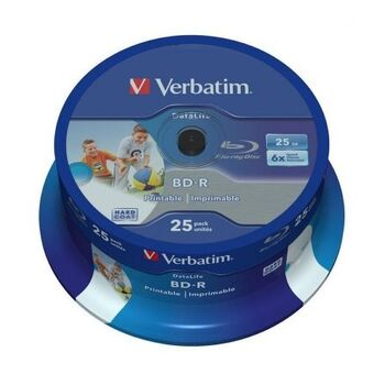 BLURAY VERBATIM 25GB 4X BD-R RECORDABLE 25U