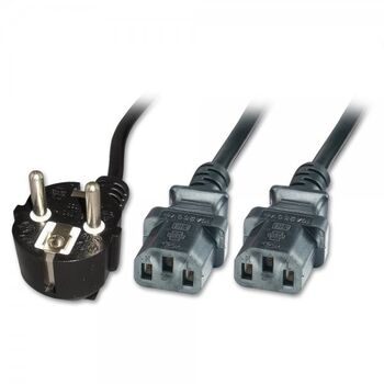 CABLE CORRIENTE CPU PC 2M IEC-C13 DOBLE