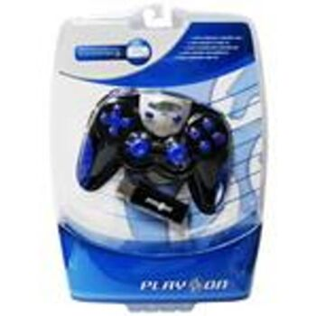 MANDO INALAMBRICO COMPATIBLE PS3 PC RASPBERRY AZUL