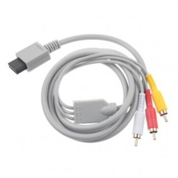 CABLE VIDEO AV 3xRCA HD PARA WII SATYCON