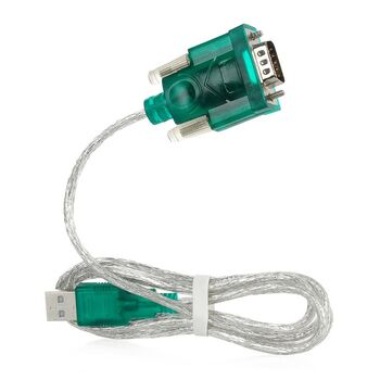 ADAPTADOR USB A SERIE RS232 MACHO VERDE SATYCON