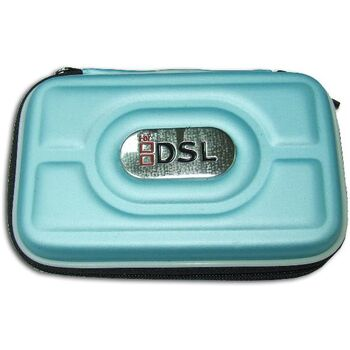 FUNDA SEMI-RIGIDA DSL/DSi/3DS COLOR CELESTE-VERDE