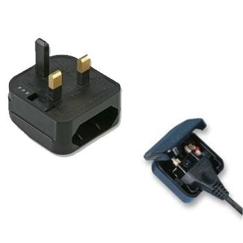 ADAPTADOR DE ENCHUFE UK A EUROPEO TIPO PHILIPS