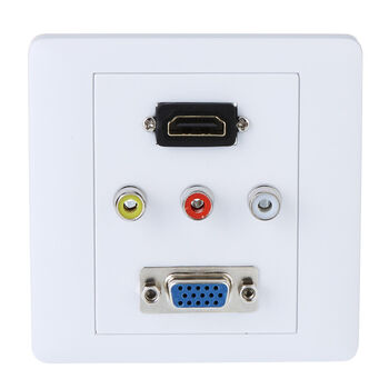 PLACA TAPA PARED UNIVERSAL HDMI VGA 3XRCA
