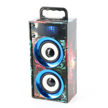 ALTAVOCES WKS-669B BLUETOOTH 2.0 FM TF USB AZULES