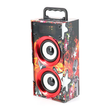 ALTAVOCES WKS-669B BLUETOOTH 2.0 FM TF USB ROJOS