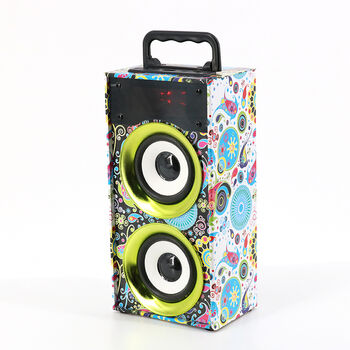 ALTAVOCES WKS-669B BLUETOOTH 2.0 FM TF USB VERDES