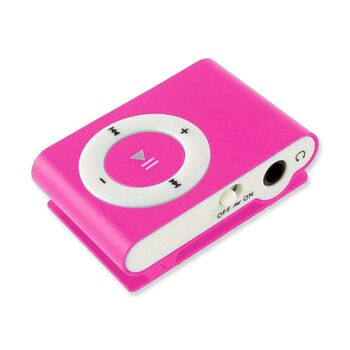 REPRODUCTOR MP3 CLIP RADIO FM AURICULARES ROSA