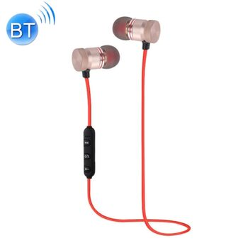 AURICULARES MAGNETICOS SPORT BLUETOOTH STEREO ROJO
