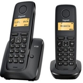 TELEFONO INAL SIEMENS GIGASET A120 DECT DUO NEGRO
