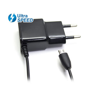 CARGADOR CASA MICROUSB ULTRASPEED MOVIL 2.1A NEGRO