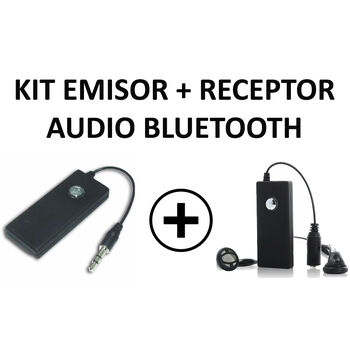 KIT EMISOR Y RECEPTOR AUDIO BLUETOOTH JACK 3.5