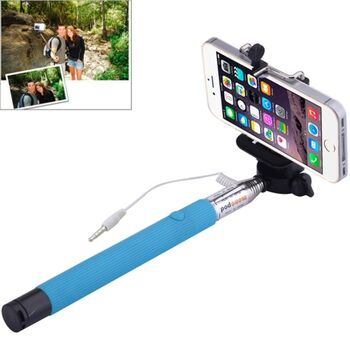 BASTON EXTENSIBLE SELFIE MOVIL AZUL