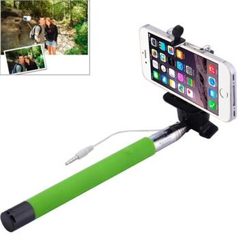 BASTON EXTENSIBLE SELFIE MOVIL VERDE