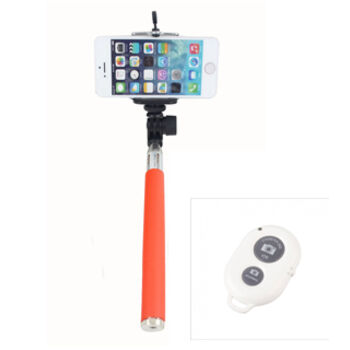 BASTON EXTENSIBLE SELFIE BLUETOOTH MOVIL NARANJA