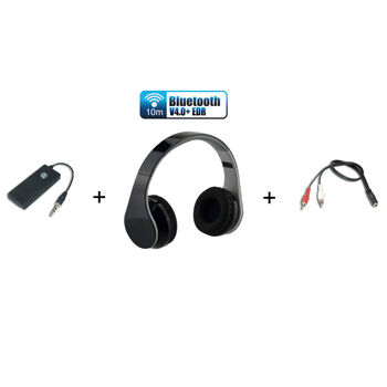 KIT AURICULARES INALAMBRICOS BLUETOOTH BT PARA TV