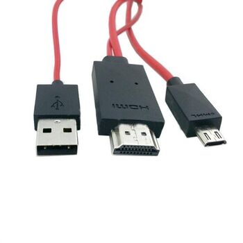 CABLE MICRO USB 11PINES MHL A HDMI GALAXY S3 S4 S5
