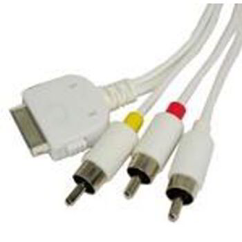 CABLE AV (3XRCA) PARA IPHONE SATYCON
