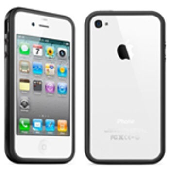 FUNDA LATERAL NEGRA DE SILICONA PARA IPHONE 4G