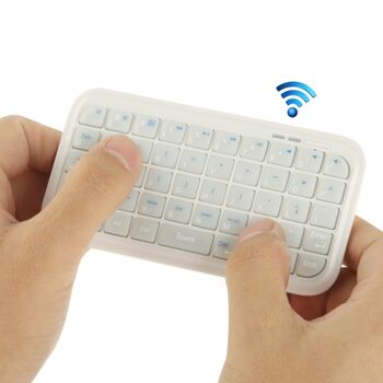 TECLADO BLUETOOTH IPAD / IPHONE / ANDROID BLANCO