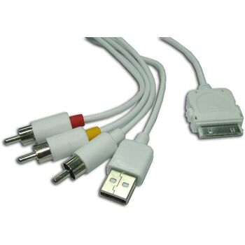 CABLE IPHONE USB+AV (3XRCA) SATYCON