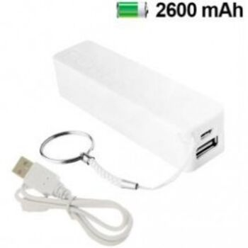 POWERBANK BANCO DE CARGA 2600MAH BLANCO