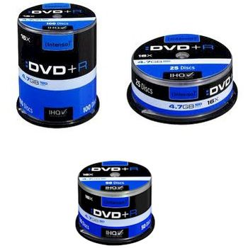 DVD+R 4.7GB 16XSPEED CAKE BOX 100 INTENSO