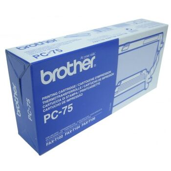 CARTUCHO TINTA CINTA BROTHER PC-75 FAX T104 T106